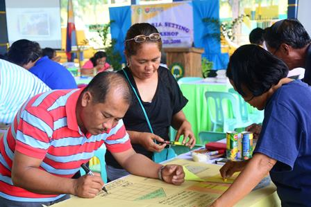 UNSURPASSED COMMITMENT. Community volunteers of different barangays in Talugtug, Nueva Ecija actively participate in the cycle 2 Creiteria Setting Workshop (CSW) held on July 19-20, 2016.